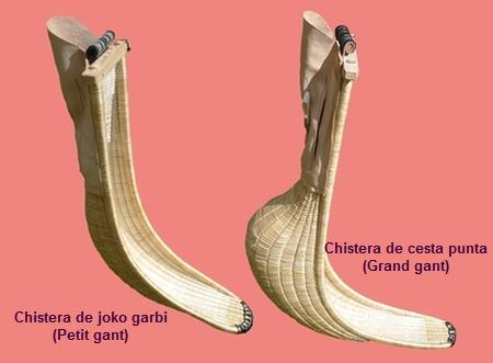 Les deux modèles de xisteras (chisteras): petit et grand gants